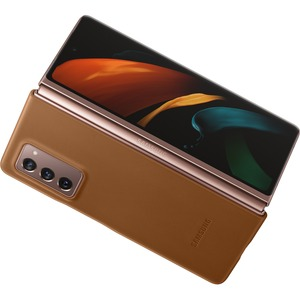 LEATHER SHELL GALAXY Z FOLD2 BROWN