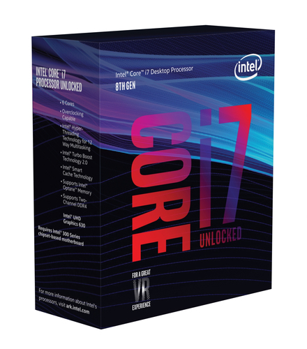 CORE I7-8700K 3.70GHZ SKT1151 12MB CACHE BOXED         IN