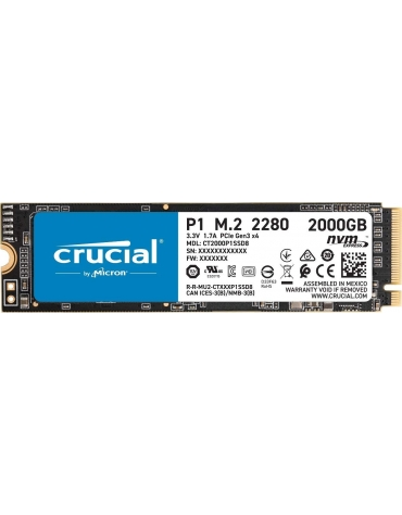 SSD CRUCIAL P1 2To 3D NAND M.2 2280